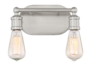 513876 - Two Light Bath Bar - Brushed Nickel