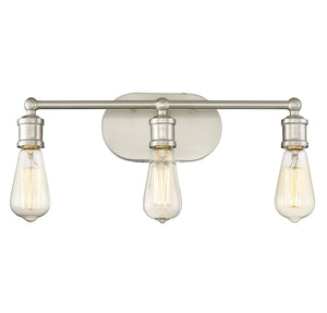 513875 - Three Light Bath Bar - Brushed Nickel