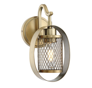 513649 - One Light Wall Sconce - Natural Brass