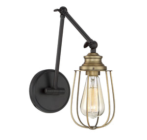 513620 - One Light Wall Sconce - English Rubbed Bronze with Brass Accents