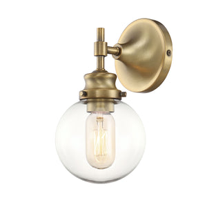 513623 - One Light Wall Sconce - Natural Brass