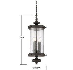 570705 - Four Light Hanging Lantern - Walnut Patina