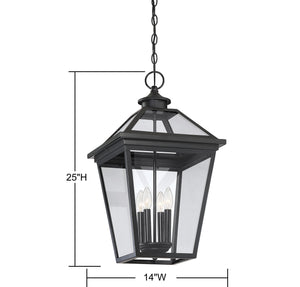 570744 - Four Light Hanging Lantern - Black