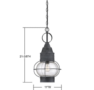 570742 - One Light Hanging Lantern - Oxidized Black