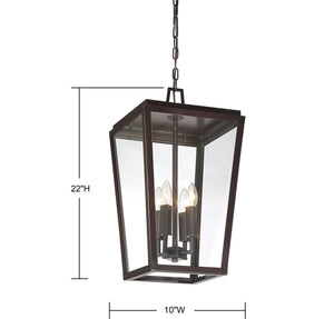 570746 - Four Light Hanging Lantern - English Bronze