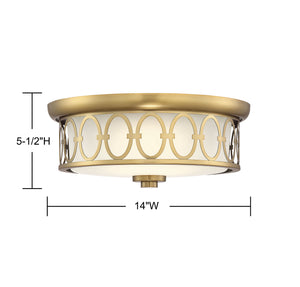 570745 - LED Flush Mount - Warm Brass