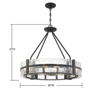 570736 - Eight Light Pendant - Matte Black