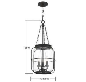 570735 - Three Light Pendant - Matte Black