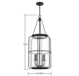 570790 - Four Light Pendant - Matte Black