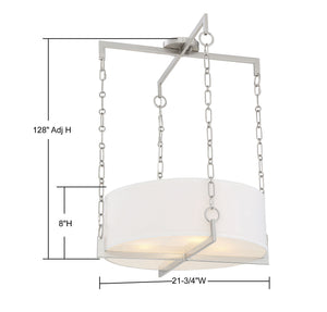 570799 - Four Light Pendant - Satin Nickel