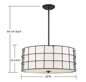 570798 - Five Light Pendant - Black