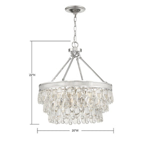 570796 - Four Light Pendant - Polished Nickel
