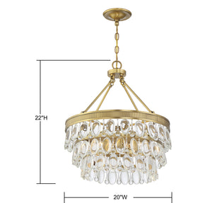 570795 - Four Light Pendant - Warm Brass