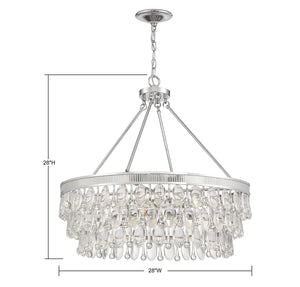 570710 - Six Light Pendant - Polished Nickel