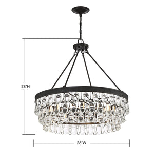 570714 - Six Light Pendant - English Bronze