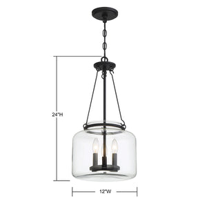 570713 - Three Light Pendant - Matte Black