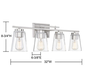 570716 - Four Light Bath Bar - Satin Nickel