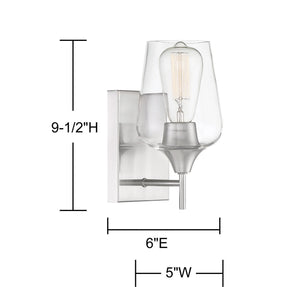 570770 - One Light Wall Sconce - Satin Nickel
