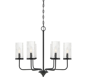 574809 - Six Light Chandelier - Matte Black