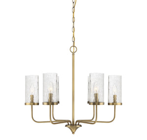 574801 - Six Light Chandelier - Natural Brass