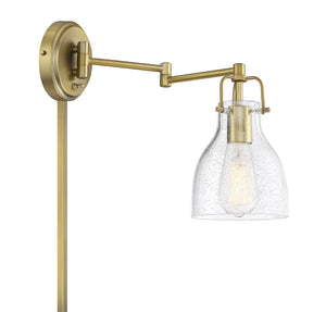 574594 - One Light Wall Sconce - Natural Brass
