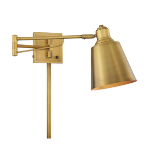 574595 - One Light Wall Sconce - Natural Brass