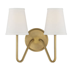 574585 - Two Light Wall Sconce - Natural Brass