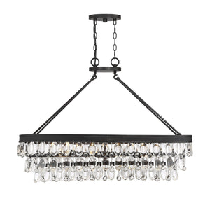 579681 - Eight Light Linear Chandelier - English Bronze