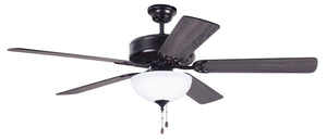 "52"" Black Fan with Light"