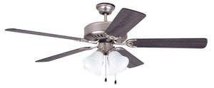 Nickel Fan with Light and Gray Washed Blades