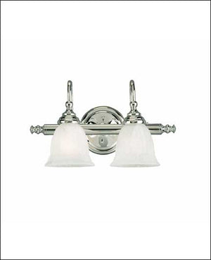 434803 - Two Light Bath Bar - Chrome