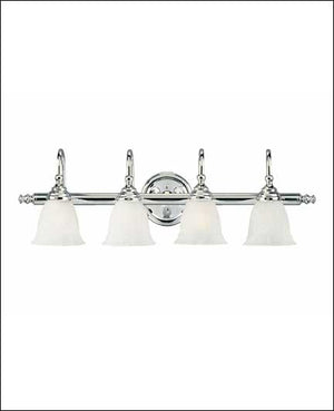 434805 - Four Light Bath Bar - Chrome