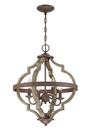 Faux Wood Chandelier