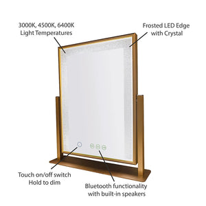 LED Bluetooth Tabletop Mirror