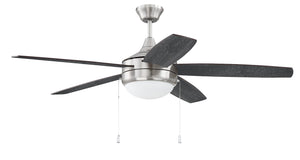 "52"" Nickel Fan with Light"