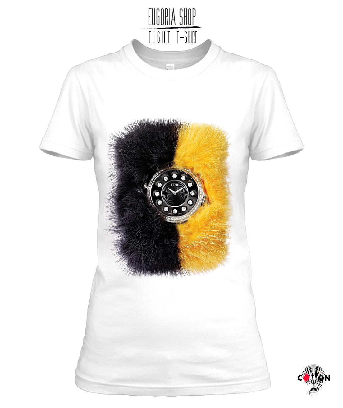 Fendi T Shirt Watch Print