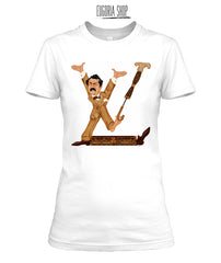 Louis Vuitton T Shirt L V Logo Print