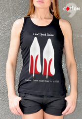 Louboutin T Shirt White High Heels Print