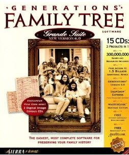 Generations Family Tree 6.0 Grande Suite w/ Family Quest Archives