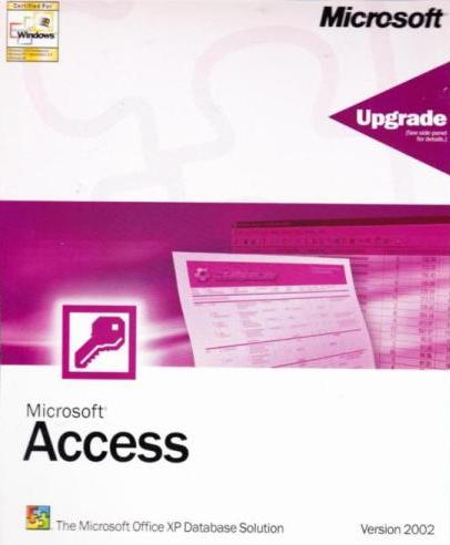 Microsoft Access 2002 Upgrade w/ Manual