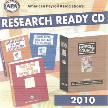 American Payroll Association's Research Ready CD 2010
