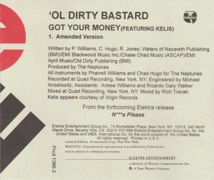 'Ol Dirty Bastard Featuring Kelis: Got Your Money Promo