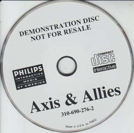 Axis & Allies Demonstration Disc Promo