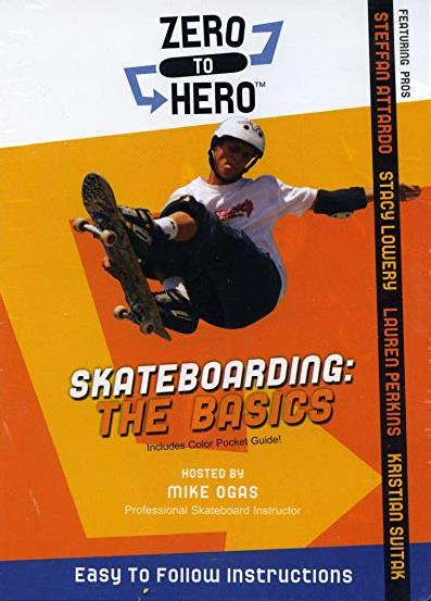 Zero To Hero Skateboarding: The Basics w/ Color Pocket Guide