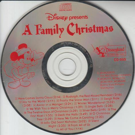 Disney Presents A Family Christmas No Artwork