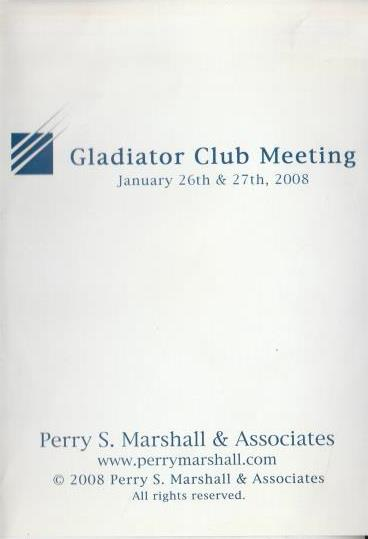 Gladiator Club Meeting By Perry S. Marshall & Associates 7-Disc Set
