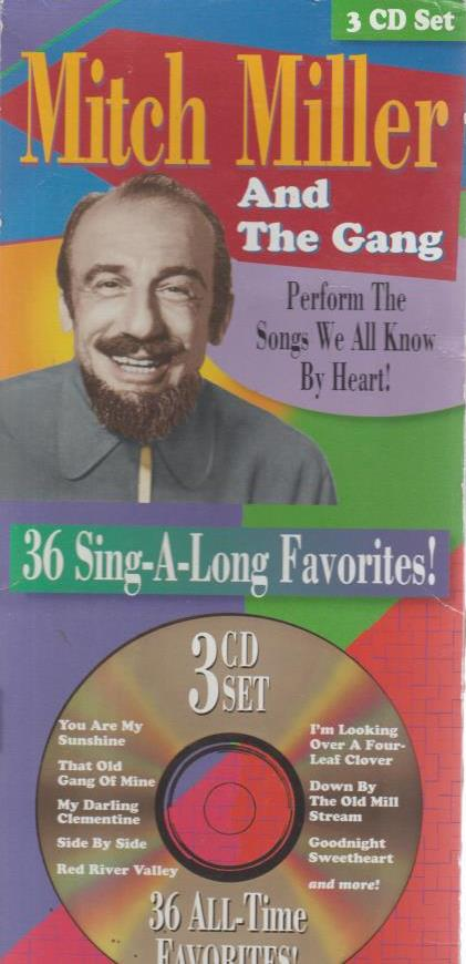 Mitch Miller And The Gang: 36 Sing-Along Favorites 3-Disc Set w/ Artwork