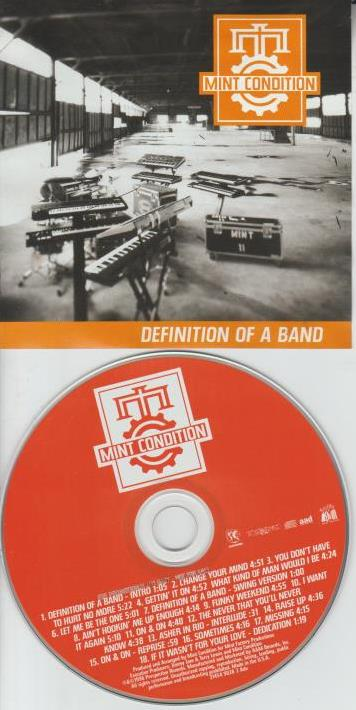 Mint Condition: Definition Of A Band Advance Promo w/ Artwork