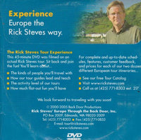 Rick Steves' Europe: The Rick Steves Tour Experience - NeverDieMedia