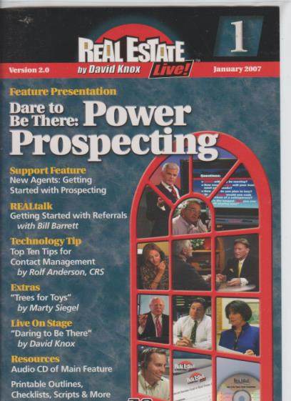 Real Estate Live! Dare To Be There: Power Prospecting Version 2 2-Disc Set - NeverDieMedia